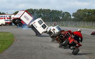 Truck Driving On Two Wheels Two Wheel Driving May S Daredevil Stunt Show