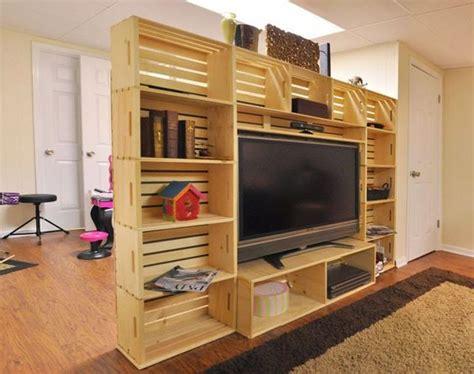 mueble con caja de frutas muebles de palets mueble para la tv hecho con cajas de
