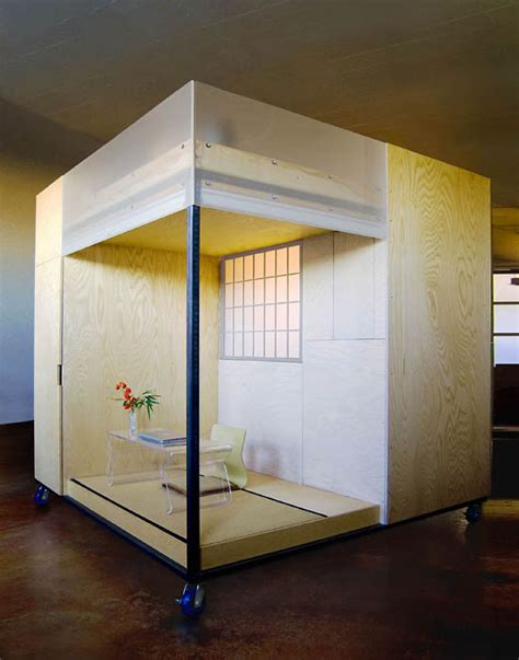 bay area feng shui expert builds  mobile dwelling cube   loft apartment