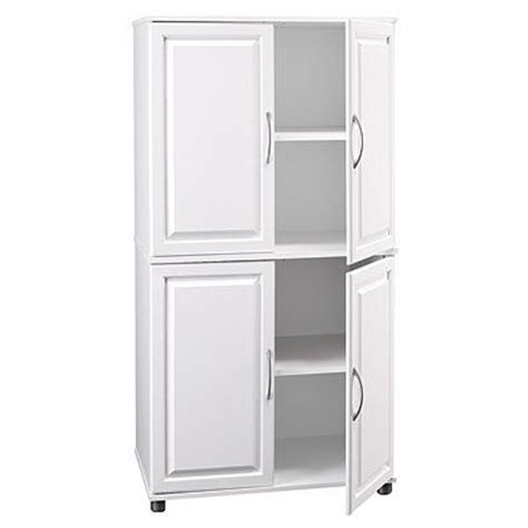 white kitchen storage cabinets with doors ameriwood white 4 door storage cabinet kitchen