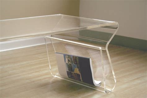 Acrylic Coffee Table With Magazine Rack by Wholesale Interiors Acrylic Clear Coffee Table With