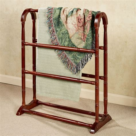aubrie solid wood blanket rack