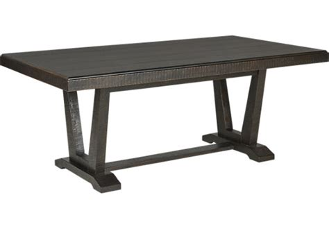 Black Rustic Dining Table Hill Creek Black Rectangle Dining Table Rustic