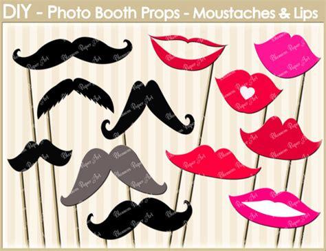 lips digital clipart printable diy photo booth moustaches lips digital clipart printable party