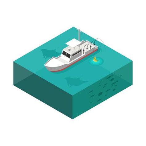 deep sea fishing boat vector deep sea fishing boat isometric vector download free