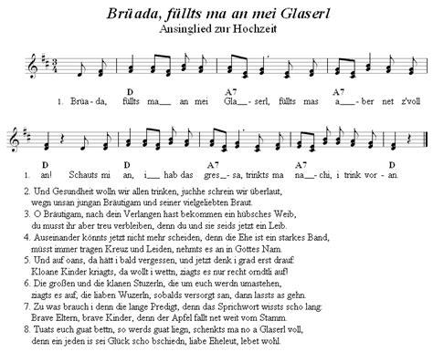 Lieder Hochzeit by Brada Fllts Ma An Mei Glaserl Lied Zur Hochzeit