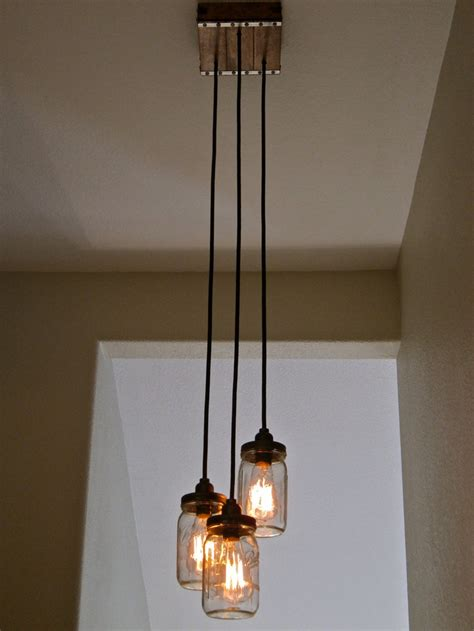 mason jar hanging lights 15 best three pendant bedroom light fixture ideas images