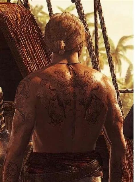 edward kenway tattoos captain edward kenway s tattoos assassin s creed iv