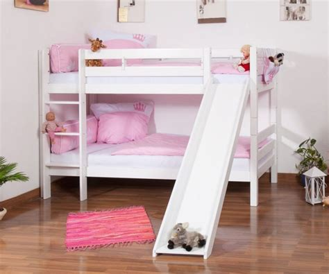 Wood Bunk Bed With Slide White Wooden Bunk Bed With Slide Bunk Bed Bedrooms And Room Nurani