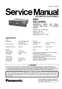 panasonic audi concert cq la1923l sm service manual