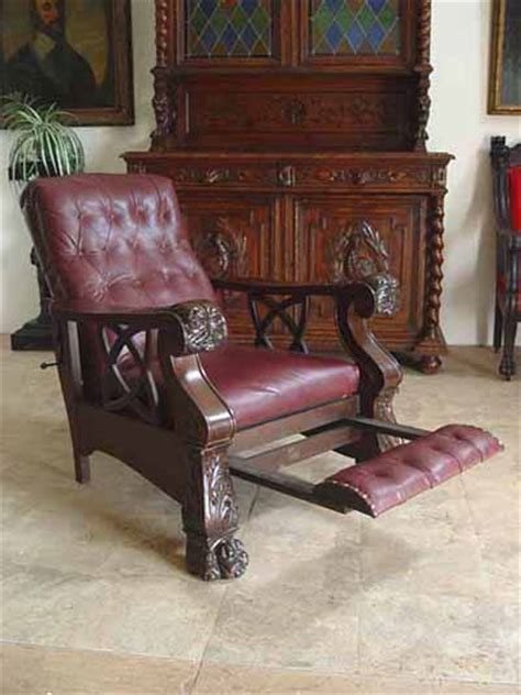 antique recliner chair handcrafted morris chairs custom furniture