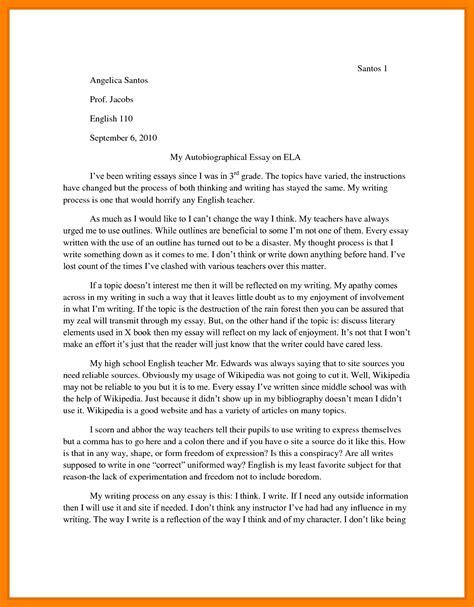 10 autobiography essay exles informal letter