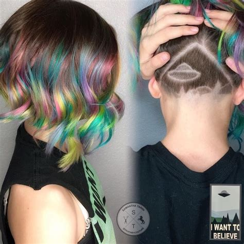 16 colorful undercuts that will make your current hair