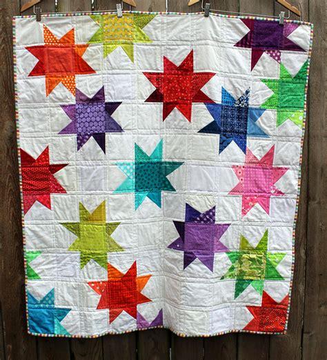 modern house quilt block