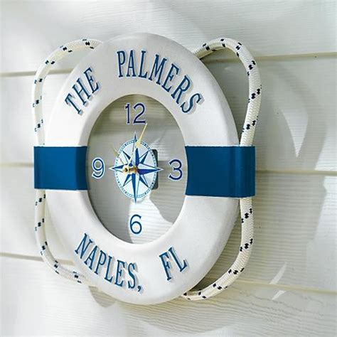 Outdoor Nautical Decor by Personalized Nautical Outdoor Outdoor Clock Tropical