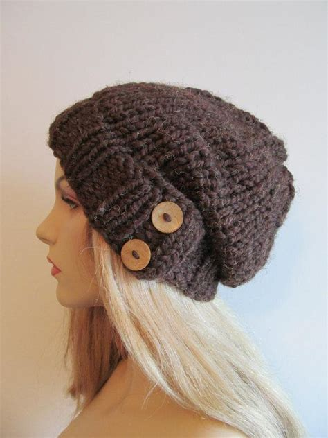 wool and buttons free knitting patterns chunky hat with button pattern by tvbapril24092218 craftsy