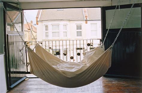 suspended bedroom cool indoor hammock le beanock digsdigs