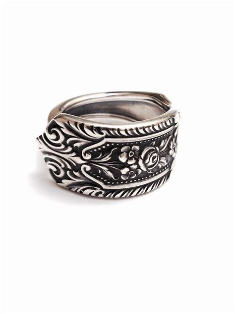 sterling silver spoon ring circa 1934