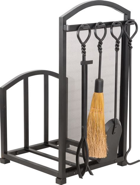 steel fireplace tool set and log rack princess auto