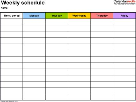 Free Template Creator 4 Daily Schedule Maker Teknoswitch