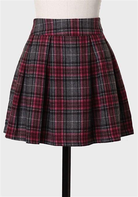 conservatoire pleated plaid skirt