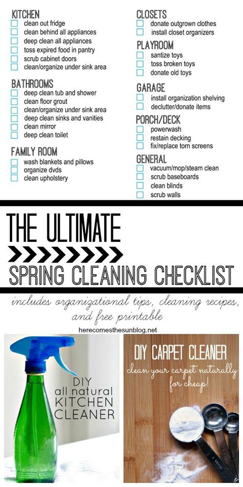 the ultimate spring cleaning guide bonus spring cleaning the ultimate spring cleaning checklist cleaning checklist
