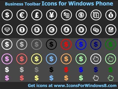 Business Toolbar Icons for Windows Phone v2011.1 Shareware ...