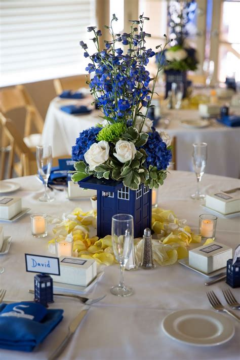 wedding centerpieces ideas not using flowers a doctor who wedding tardis centerpieces