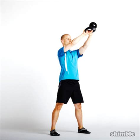 kettlebell swings cardio alternating kettlebell swings exercise how to skimble
