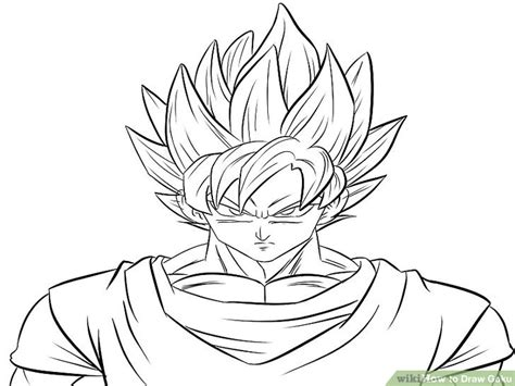 Drawing Goku by How To Draw Goku With Pictures Wikihow