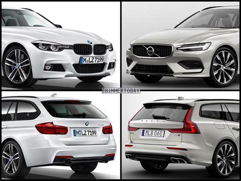 Bmw X1 3er Touring Vergleich by Bild Vergleich Volvo V60 2018 Trifft Bmw 3er Touring F31 Lci