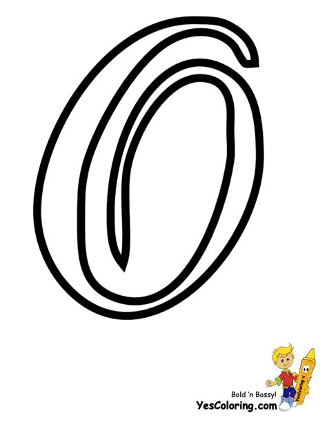 color o letter o uppercase coloring pages