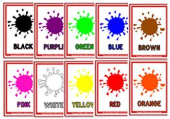 Matching Paint Colors by Colours Flashcards Aussie Childcare Network