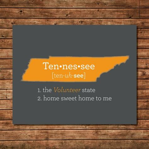 Home Decor Tn by Tennessee Tn Print Map State State