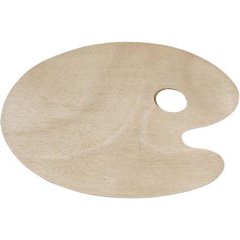 Mixing Palette 5 Shape wooden artist s paint palette 22 x 30cm oval shape