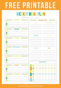free menu planner template free printable weekly meal planner printable crush