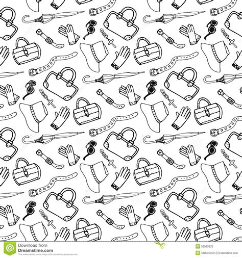 doodle design draw fashion doodle fashion accessories and handbags