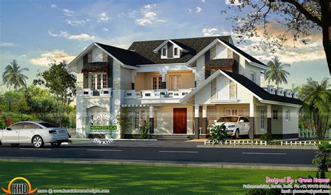 european style house beautiful european model house kerala home design