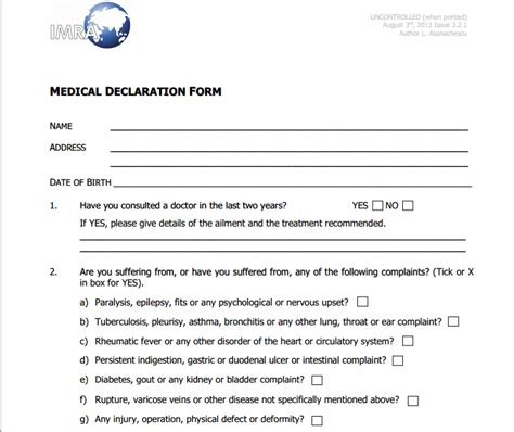 next of kin form template uk declaration form templates free printable