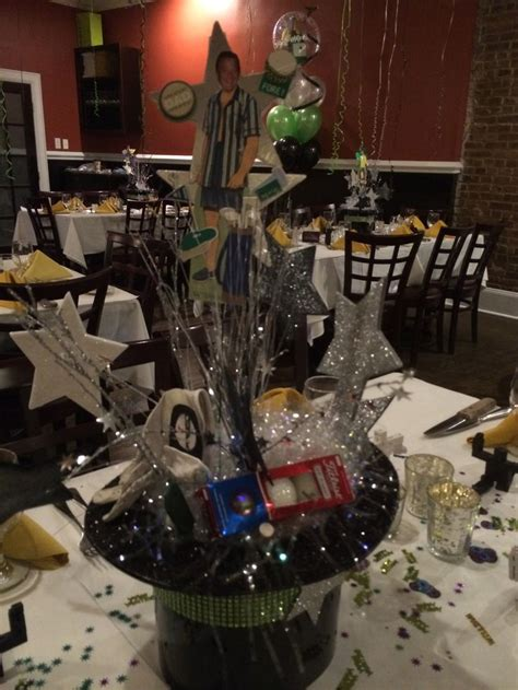 golfer themed centerpiece centerpiece events party