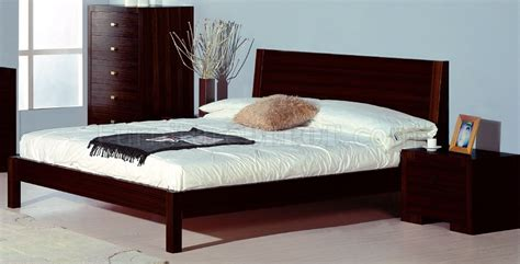 Wenge Furniture Bedroom Wenge Finish Contemporary Bedroom Set