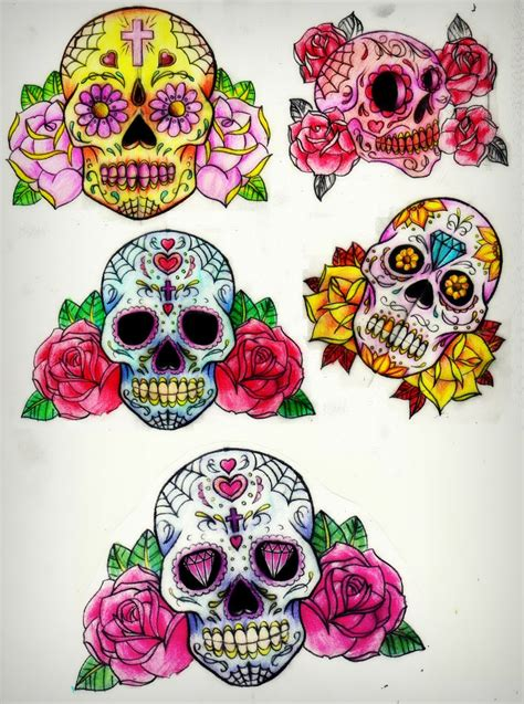 girly tattoo designs tumblr girly sugar skull tattoos amazing