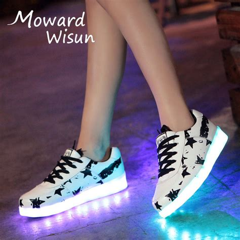 Boots Fashion Miki Led Sz 26 30 Best Seller Size 30 44 Fashion Glowing Luminous Sneakers With Light