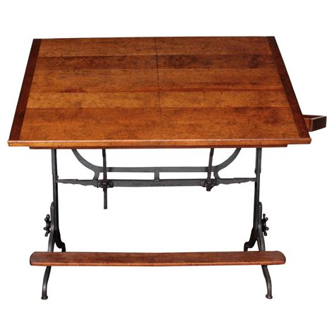 Drafting Table With Storage 19th C Large Drafting Table With Storage At 1stdibs