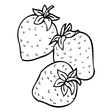 imagenes para colorear fresa fresas del co dibujalia dibujos para colorear