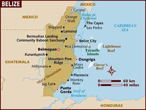 map of belize central america aroundtheworldingeographyclass belize kovasky buezo