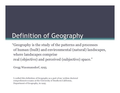 pattern geography definition definition of geography