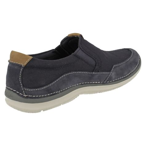 mens clarks casual slip on shoes ripton free ebay