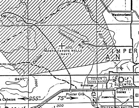 San Diego Sectional Chart by Abandoned Known Airfields California El Centro Area
