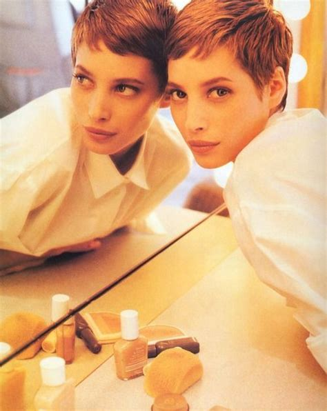 kristy turligton short hair christy turlington pixie cut pixie haircut pinterest